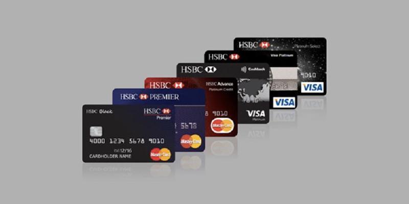 Một số thẻ tin dụng ngân hàng HSBC