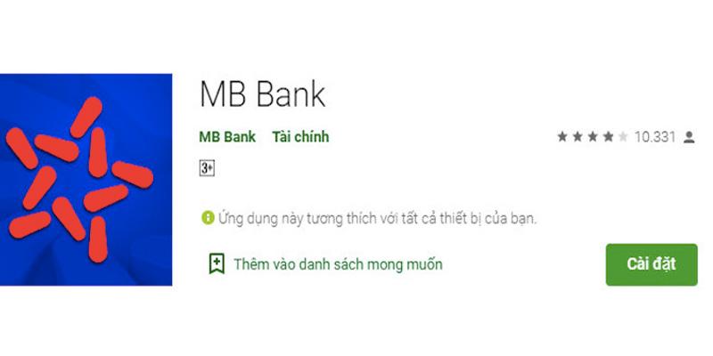 Tải ứng dụng MB Bank