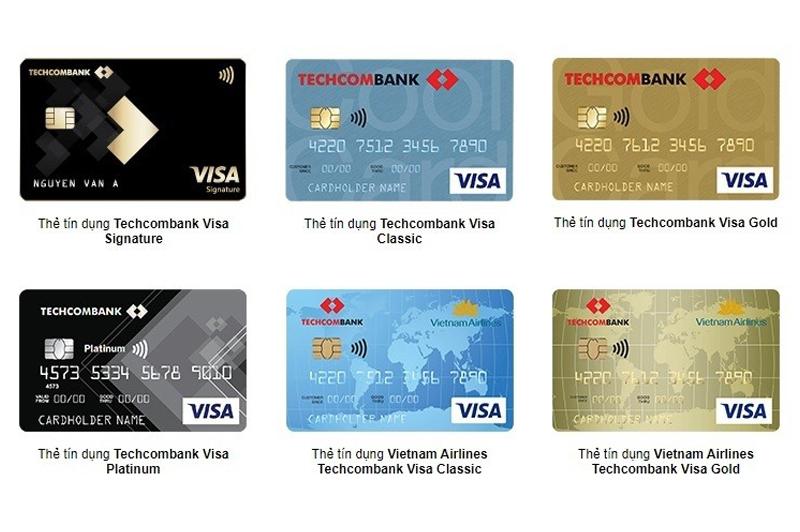 Thẻ Visa của ngân hàng Techcombank