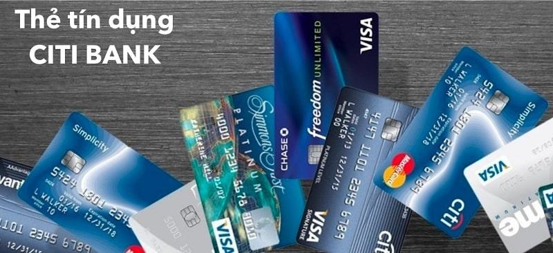 Ngân hàng Citibank cung cấp đa dạng các loại thẻ tín dụng