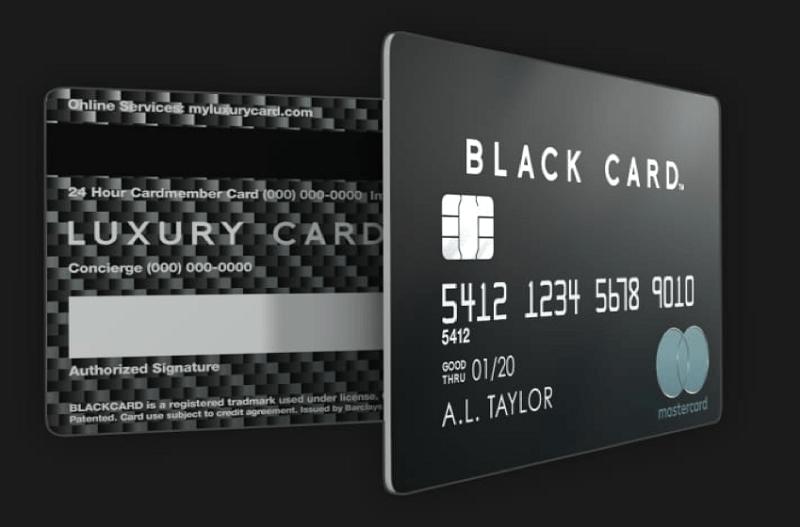 Thẻ tín dụng Black Card có vẻ ngoài vô cùng quyền lực