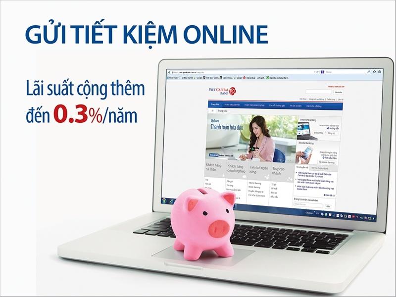 Gửi tiết kiệm online có lãi suất khá tốt